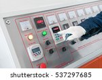 closeup of the working hand on...   Shutterstock . vector #537297685