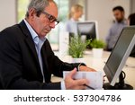 portrait of senior businessman   Shutterstock . vector #537304786