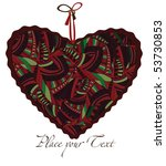 heart in ethnic style expresses ... | Shutterstock .eps vector #53730853