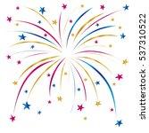 festive firework. firework... | Shutterstock .eps vector #537310522