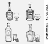 vector graphic set of cognac ... | Shutterstock .eps vector #537316066