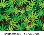 cannabis hemp texture marijuana ... | Shutterstock .eps vector #537318706