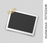 realistic photo frame with... | Shutterstock .eps vector #537322648