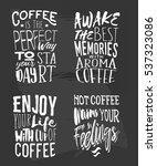 creative set of coffee... | Shutterstock .eps vector #537323086