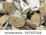pile of birch wood | Shutterstock . vector #537327316