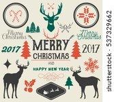 vector hand drawn merry... | Shutterstock .eps vector #537329662