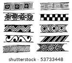 set of doodle vector patterns | Shutterstock .eps vector #53733448
