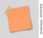 post note paper sticker... | Shutterstock .eps vector #537337918