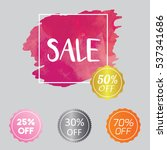 set of watercolor badge tag... | Shutterstock .eps vector #537341686