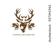 hunting and fishing vintage... | Shutterstock .eps vector #537341962