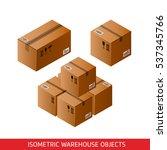 Isometric Cardboard Boxes...