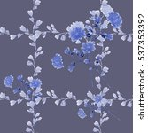 seamless pattern small blue... | Shutterstock . vector #537353392