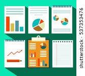paperwork vector design. flat...   Shutterstock .eps vector #537353476