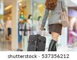 beautiful  young girl walking...   Shutterstock . vector #537356212