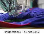 textile embroidery machine in ... | Shutterstock . vector #537358312