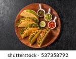 tortilla and tacos set mexican... | Shutterstock . vector #537358792