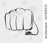 female fist. women rights. girl ... | Shutterstock .eps vector #537359272