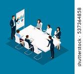 isometric people  businessmen... | Shutterstock .eps vector #537364858