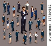 isometric people  businessmen... | Shutterstock .eps vector #537364882