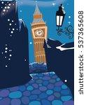 London At Night With Big Ben...