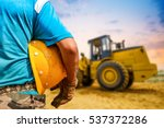 safety engineering and a helmet ... | Shutterstock . vector #537372286