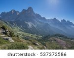 pale di san martino group from... | Shutterstock . vector #537372586