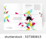geometric background template... | Shutterstock .eps vector #537380815