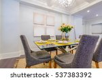 modern dining room in luxury... | Shutterstock . vector #537383392