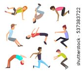 parkour outdoor gymnastic... | Shutterstock .eps vector #537383722