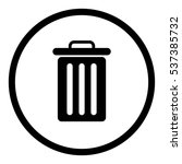 bin icon in circle on white... | Shutterstock .eps vector #537385732