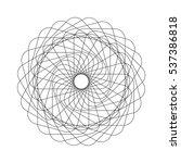 abstract spirograph element....   Shutterstock .eps vector #537386818
