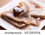 pancakes with jam | Shutterstock . vector #537393556