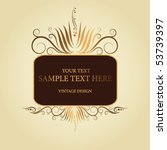 golden vintage frame | Shutterstock .eps vector #53739397