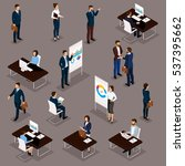 business people isometric set... | Shutterstock .eps vector #537395662