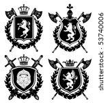 coat of arms. vector... | Shutterstock .eps vector #53740006