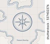 treasure paper map with islands.... | Shutterstock .eps vector #537402376