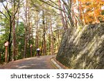 a man cycling up into the... | Shutterstock . vector #537402556