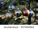 christmas decoration with balls | Shutterstock . vector #537404062
