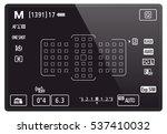 camera lcd screen | Shutterstock .eps vector #537410032