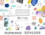 creative art header with... | Shutterstock .eps vector #537411535