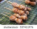 thai sausages  sai krok isan    Shutterstock . vector #537411976