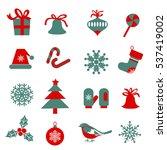 set of  christmas symbols....   Shutterstock .eps vector #537419002