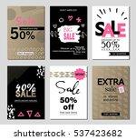 set of social media sale... | Shutterstock .eps vector #537423682
