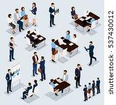 recruitment process to set... | Shutterstock .eps vector #537430012