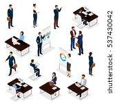 business people isometric set... | Shutterstock .eps vector #537430042
