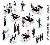 recruitment process to set... | Shutterstock .eps vector #537430075