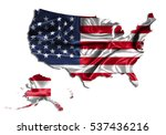 3d illustration map usa country ... | Shutterstock . vector #537436216
