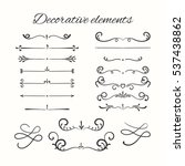 hand drawn divders set.... | Shutterstock . vector #537438862