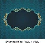 classical flourish text frame... | Shutterstock . vector #53744407