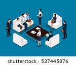business people isometric set... | Shutterstock .eps vector #537445876
